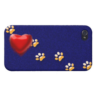PAWS THROUGH MY HEART iPhone 4 COVER