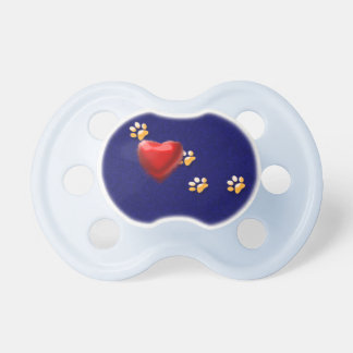 PAWS THROUGH MY HEART PACIFIER