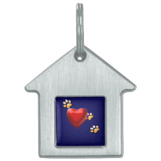 PAWS THROUGH MY HEART PET TAG
