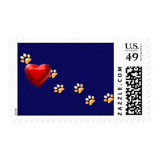 PAWS THROUGH MY HEART POSTAGE