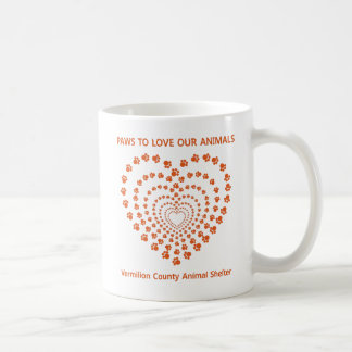 Paws To Love #11 - Many Hearts - Orange Classic White Coffee Mug