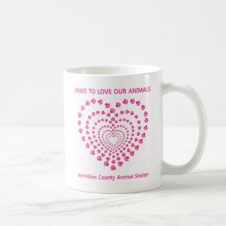 Paws To Love #13 - Many Hearts - Pink Classic White Coffee Mug