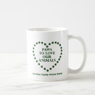 Paws To Love #27 - Heart - Green Coffee Mug