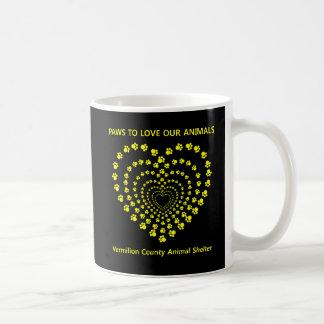 Paws To Love #2 - Many Hearts - Yellow Classic White Coffee Mug