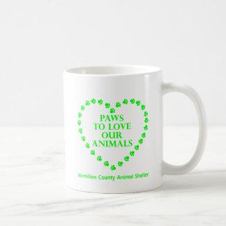 Paws To Love #33 - Heart - Bright Green Coffee Mug