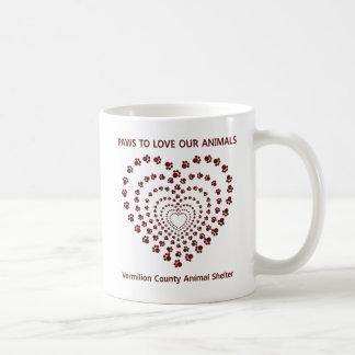 Paws To Love #6 - Many Hearts - Maroon Classic White Coffee Mug