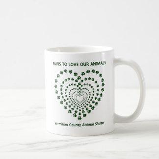 Paws To Love #7 - Many Hearts - Green Coffee Mug