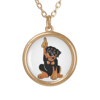 Paws Up Round Pendant Necklace