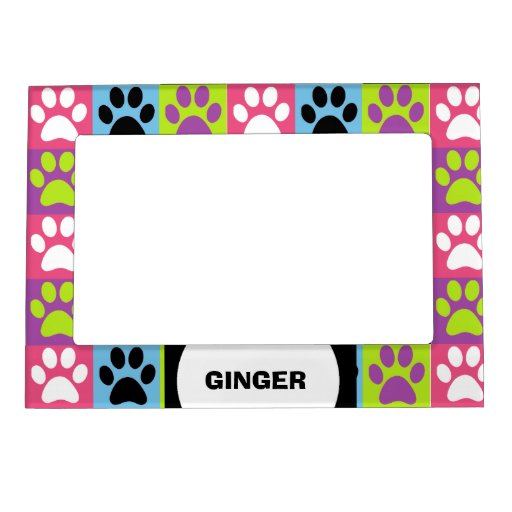 Paws Up - Pink, Purple, Blue Magnetic Photo Frame