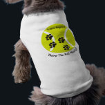 """PawsID Tennis Dog Shirt<br><div class=""""desc"""">PawsID original designs for your dog.  These cute and clever designs are sure to get attention. Get yours today!</div>"""