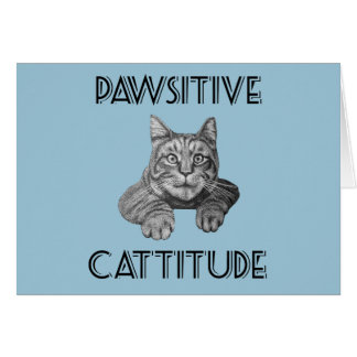 Pawsitive Cattitude Cat Cards