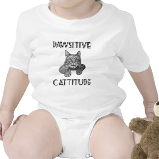 Pawsitive Cattitude Cat Rompers