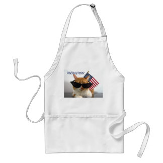 PAWSitively Patriotic Cool Cat with Flag Apron