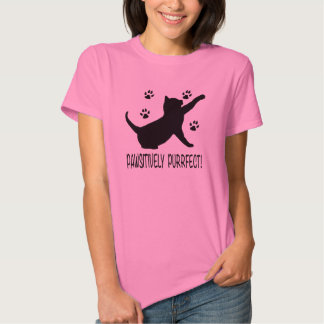 Pawsitively Purrfect with Cat Paw Prints Shirt