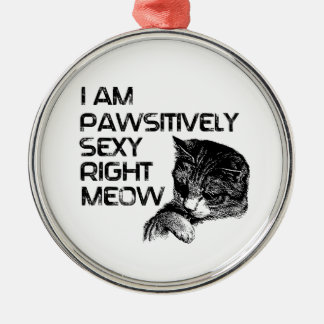 Pawsitively Se xy Right Meow Christmas Tree Ornament