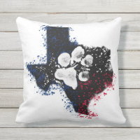 Pawsitively Stately Texas Throw Pillow