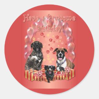 Pawsome Birthday Card Stickers