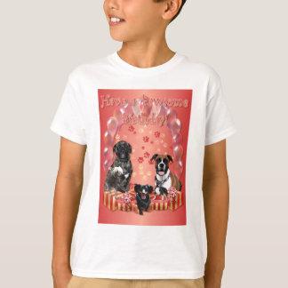 Pawsome Birthday Card T-Shirt