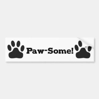 Pawsome Cat Dog Bumper Sticker