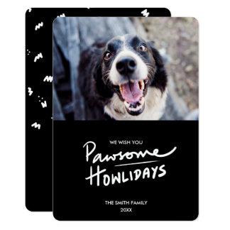 Pawsome Howlidays | Funny Dog Holiday Photo Card