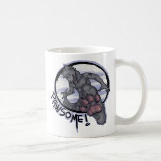 pawsome classic white coffee mug