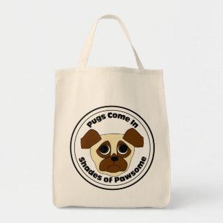 Pawsome Pug Tote Bag