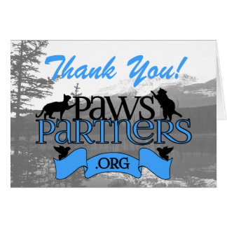 PawsPartners.org - Logo Thank You Notes Stationery Note Card
