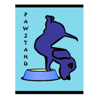 PAWSTAND - Funny Yoga Postcard