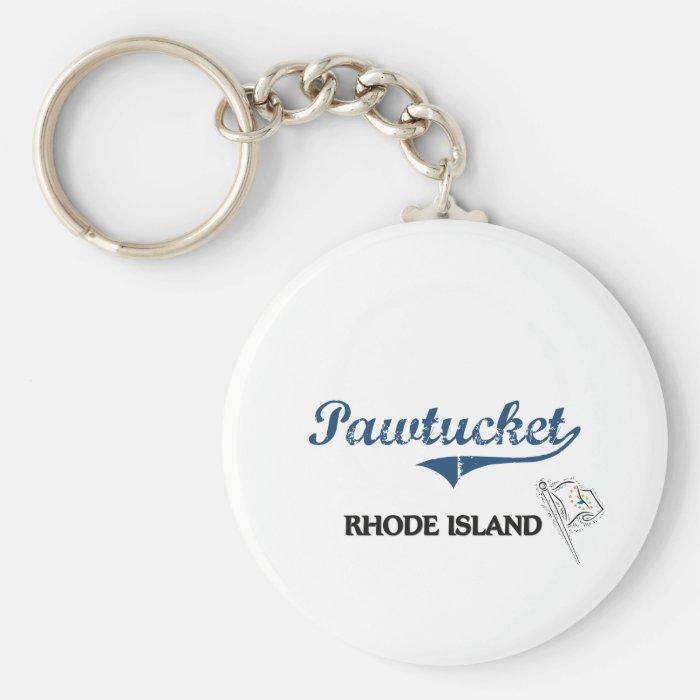 Pawtucket Rhode Island City Classic Keychain
