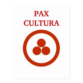 Pax Cultura Stationary Postcard