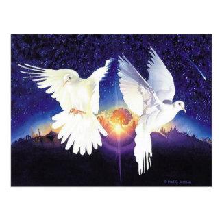 """""""Pax in Terra"""" Dove Scene Postcard"""