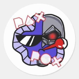 Pax Pox Cyborg Classic Round Sticker