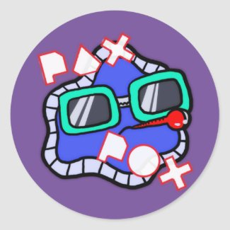 Pax Pox Purple Sticker 6 pack