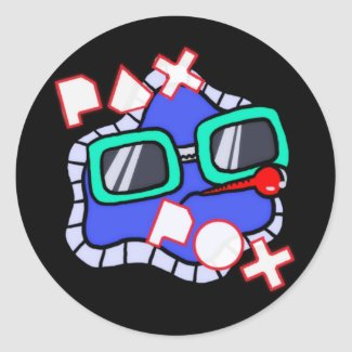 Pax Pox Round Sticker