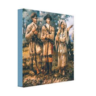 Paxson Vintage  Lewis & Clark at Three Forks Canvas Print