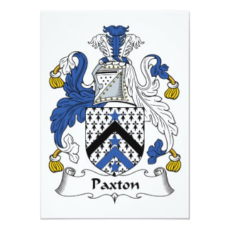 Paxton Family Crest Card