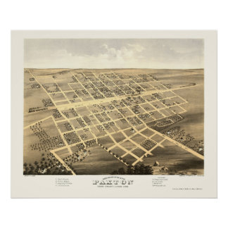 Paxton, IL Panoramic Map - 1869 Poster