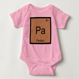 Paxton Name Chemistry Element Periodic Table Infant Creeper