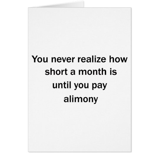 Pay Alimony Card