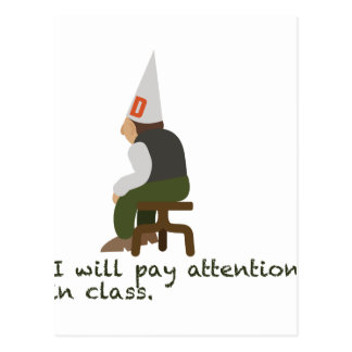 Pay Attention Postcard