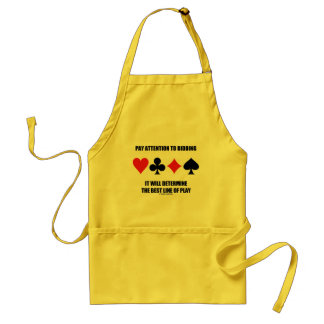 Pay Attention To Bidding Will Determine Best Line Adult Apron