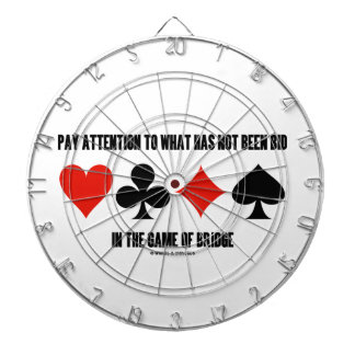 Pay Attention To What Has Not Been Bid In Bridge Dartboard With Darts