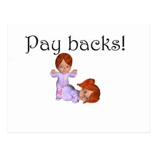 Pay backs postcard