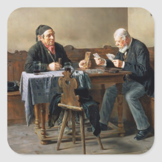 Pay Day, 1887 Square Stickers
