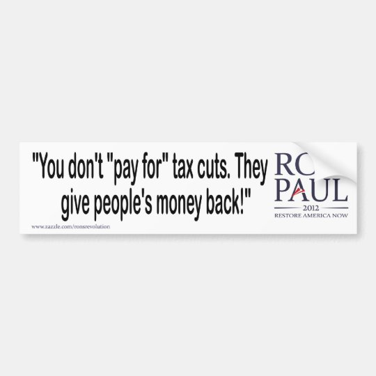 Pay for tax cuts bumper sticker