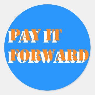 pay it forward 2 classic round sticker