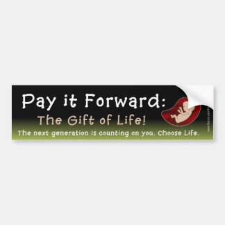 PAY IT FORWARD BUMPER STICKERS