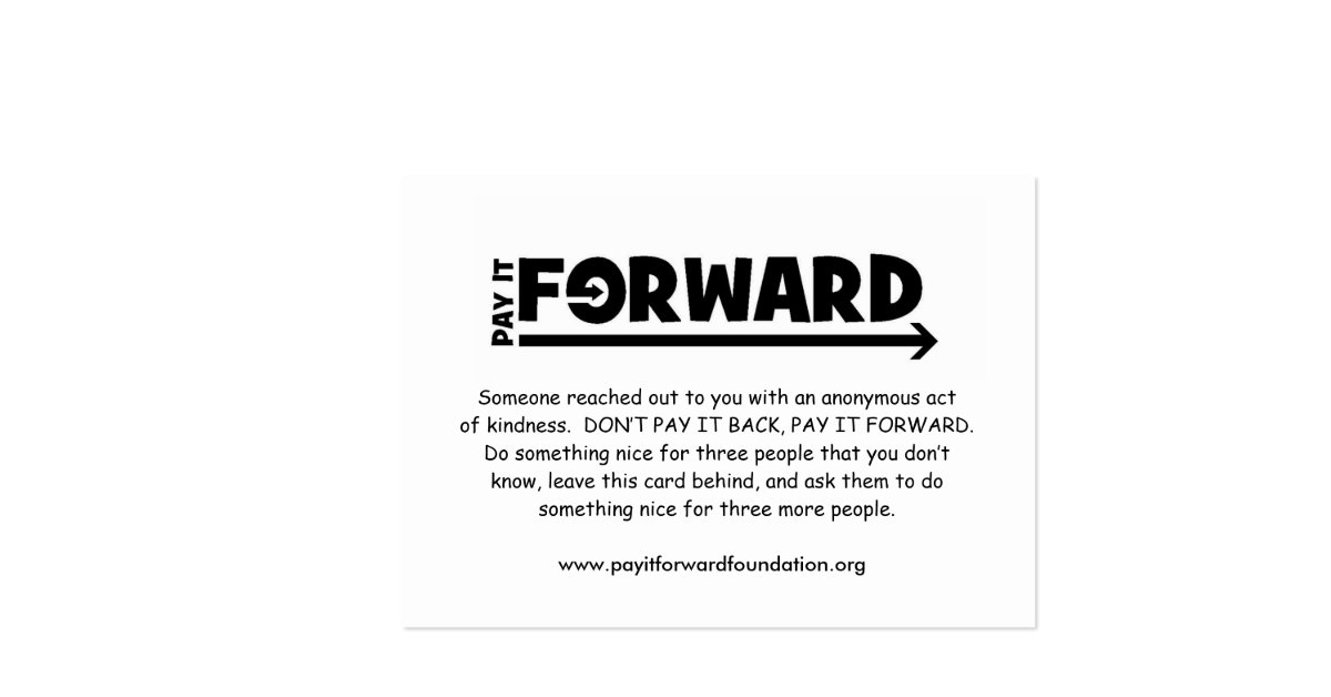 pay it forward card templates - 28 images - 1 000 soul business ...