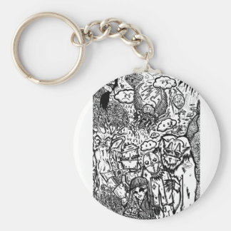 Pay No Attention Keychain