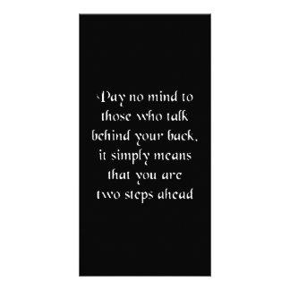 Pay no mind card
